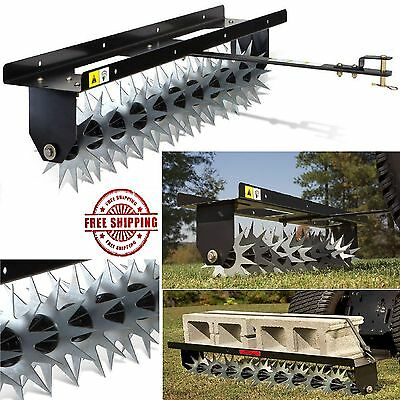 Lawn Aerators Spike Aerator Tow Behind Tractor Garden Mower Soil Fertilize 1d