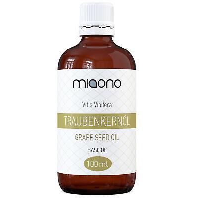 miaono Traubenkernöl (100ml) - reines Basis-Öl in einer Glasflasche