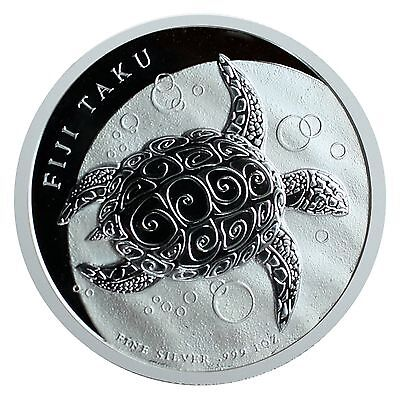 2013 Fiji Taku Turtle 1oz .999 Silver Bu on Rummage