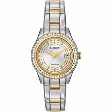 Citizen Eco-Drive Women's Silhouette Crystal Two-Tone 28mm Watch FE1124-58A