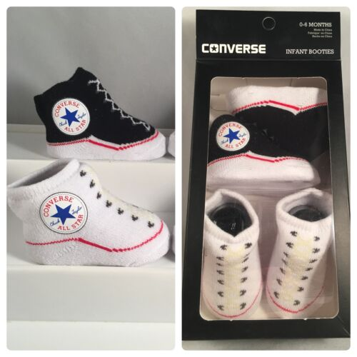 2 Pair Converse Chuck Taylor 0-6 Months Baby Booties Infant