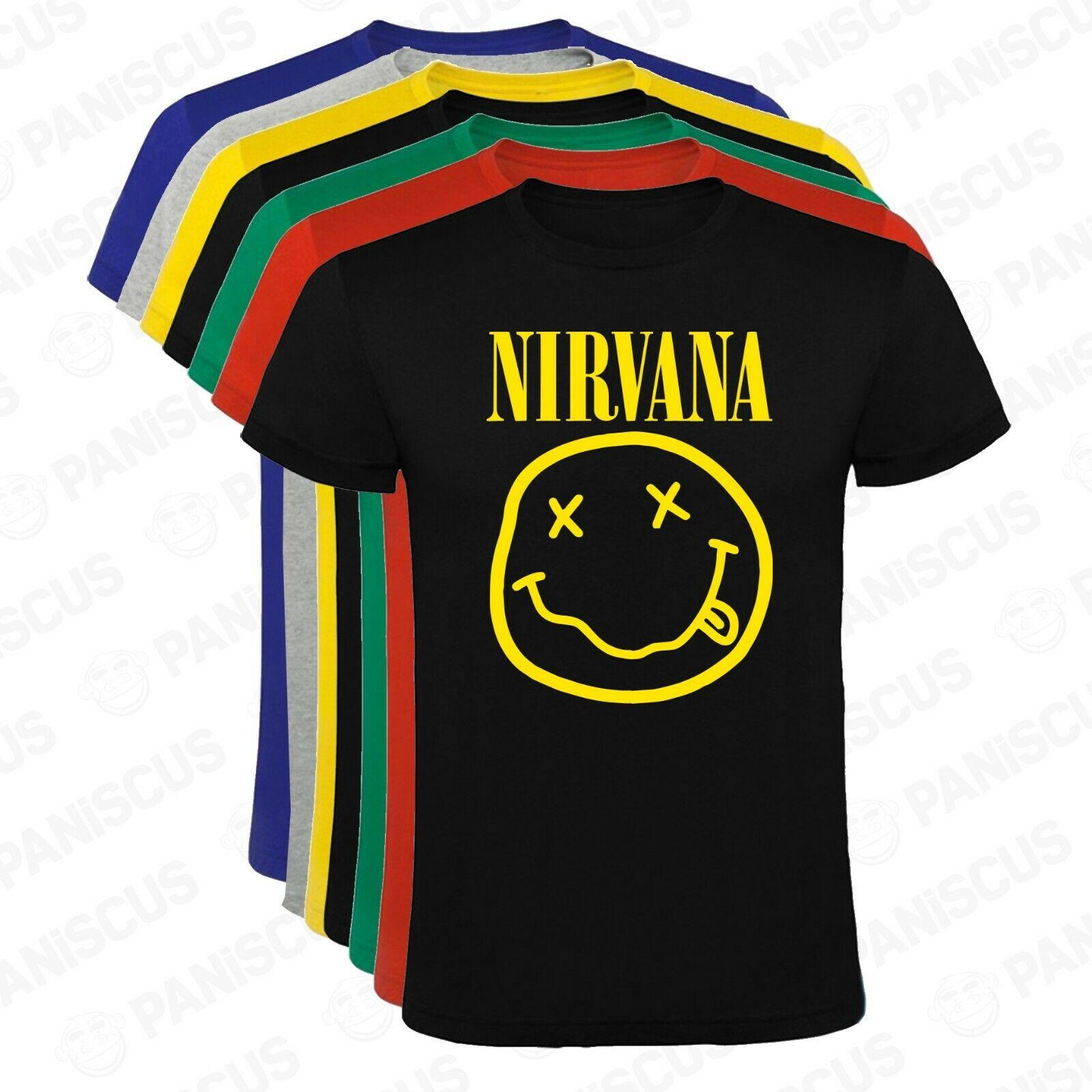 Camiseta hombre Nirvana logo clasico tallas y colores