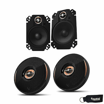 "Infinity KAPPA-62IX 6.5"" Speakers Infinity KAPPA-64CFX 4x6"" Plate Speakers"