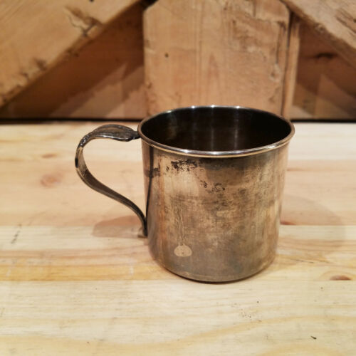 Small International Silver Co. Cup w/ Floral Handle - Swanky Barn