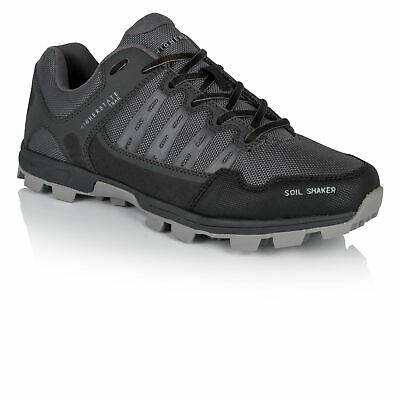 Higher State Mens Soil Shaker Trail Running Shoes Trainers Sneakers Black Grey