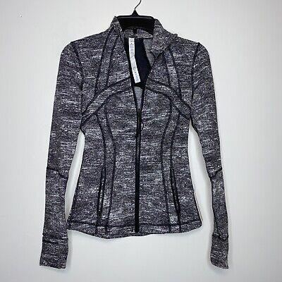 Nwt Lululemon 2 Define Jacket Rush Jacquard Black And White Size 2 W4AWJS