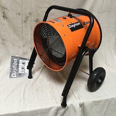 Dayton 15kw Portable Electric Salamander Heater 240v Ac 3-phase Hardwired 1rkt2c