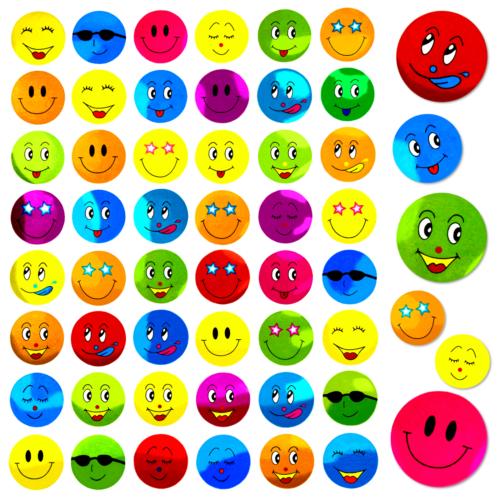 480 Smiley Sticker Freude Positiv Frech Bunt Deko Verzierung Basteln Kinder