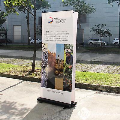 Outdoor Banner Display (Roll Up RollUp Outdoor Bannerdisplay, doppelseitig 85x200cm, OHNE DRUCK, OVP)