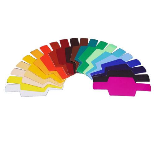 Universal Flash Gels Lighting Filter 20 pcs Kit for Canon Speedlite 430EX III