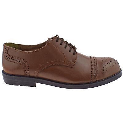 5dc7b38ab Hombre Lotus Zapato Oxford II Cuero Marrón Cordones Zapatos de ...