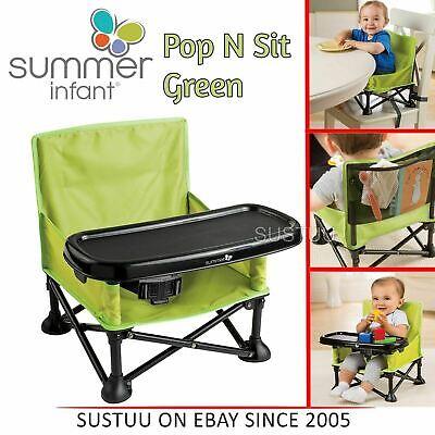 Summer Infant Pop N Sit Bebé Viaje Plegable Silla Partable Asiento Elevado Verde