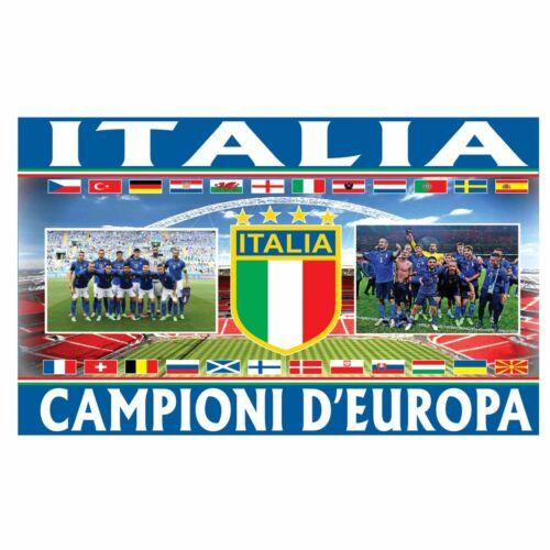 Giant ITALY (ITALIA) European Champions Flag (5ft x 3ft & 100% Polyester)