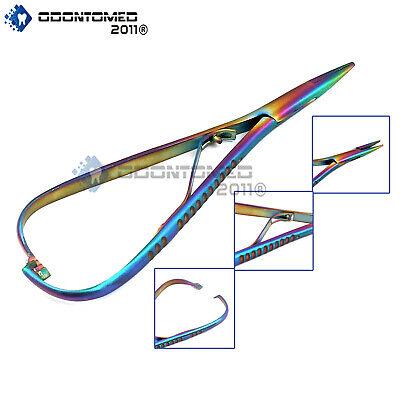 Odm Dental Mathieu Needle Holder Forceps Rainbow Bracket Removing Surgical Plier