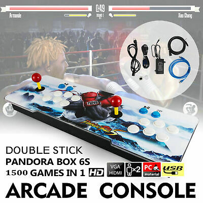 Pandora Box 6s 1500 in 1 Retro Video Games Double Stick Arcade Console Support
