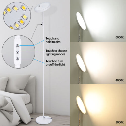 LED Floor Lamp Bright Lighting Floor Lamps for Living Rooms Bedrooms Office Home & Garden