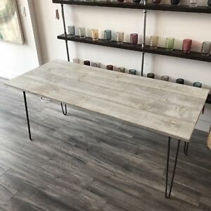 Barnboard Hairpin Dining Table