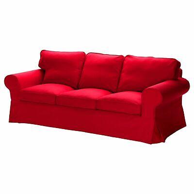 IKEA EKTORP Cover for EKTORP Sofa Idemo Red 3 seat Sofa Red Slipcover NEW sealed Denim Solid Furniture Slipcover