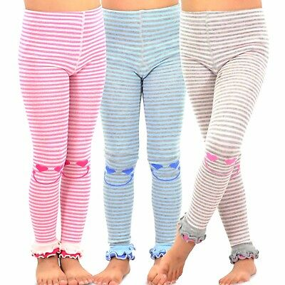TeeHee Kids Girls Fashion Footless Tights 3 Pair Pack Happy Striped Soft Cute](Cute Couple Kids)
