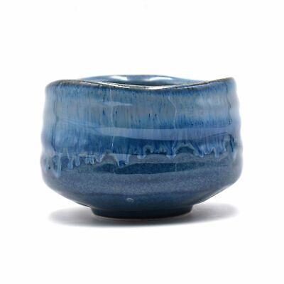 Japanese Handcrafted Ocean Mosaic Blue Matcha Green Tea Bowl Chawan