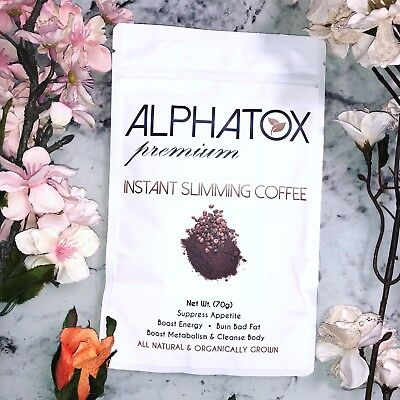 Alphatox Slimming Instant Coffee Diet Drink Lose Weight Naturally 15 Day Supply
