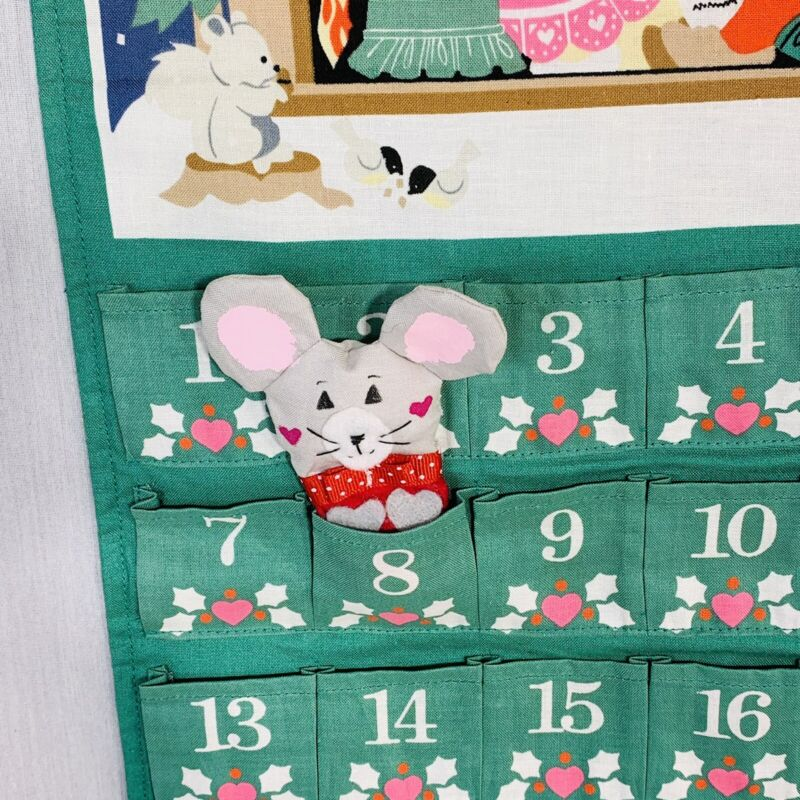 Avon Christmas Countdown Advent Calendar 1987 Vintage Replacement Mouse-Nice!