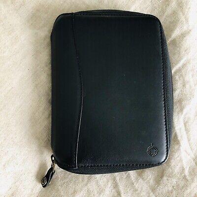 Franklin Covey Pocket Planner Black Leather Binder Agenda Organizer Space Maker