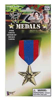 COMBAT HERO MILITARY MEDAL RIBBON w/ GOLD  STAR HALLOWEEN COSTUME ACCESSORY](Halloween Costume Gold Medal)