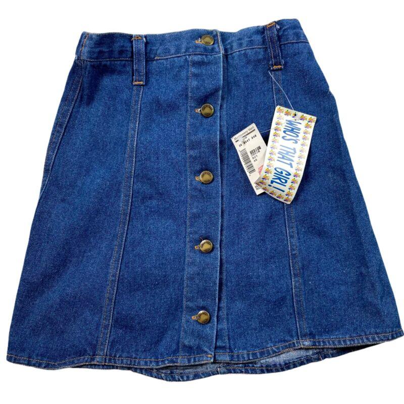 Vtg 90's NOS Who's That Girl Denim Skirt Size 10/12 M