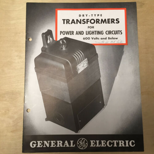 Vtg General Electric GE Catalog Dry-Type Transformers 1942