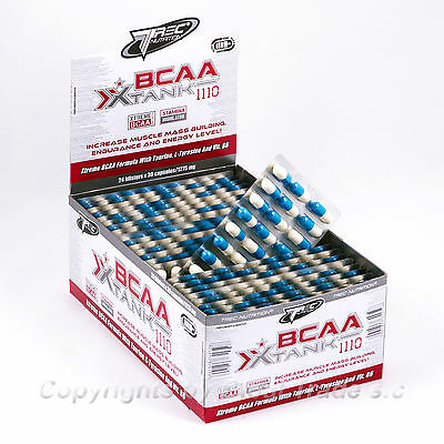 BCAA X-Tank Blisters 30-180 Caps. Increase Muscle Mass Building Endurance Energy 30 Caps Muscle Building