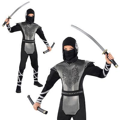 Halloween Howling Wolf Ninja Costume Child Boys Girls Kids Karate Size Medium