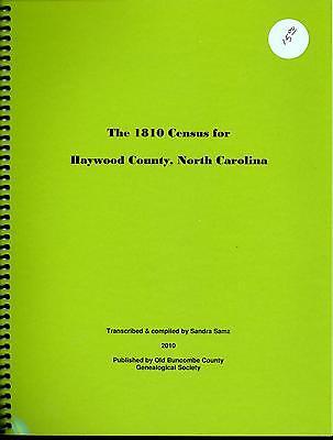 The 1810 Census for Haywood County, North Carolina