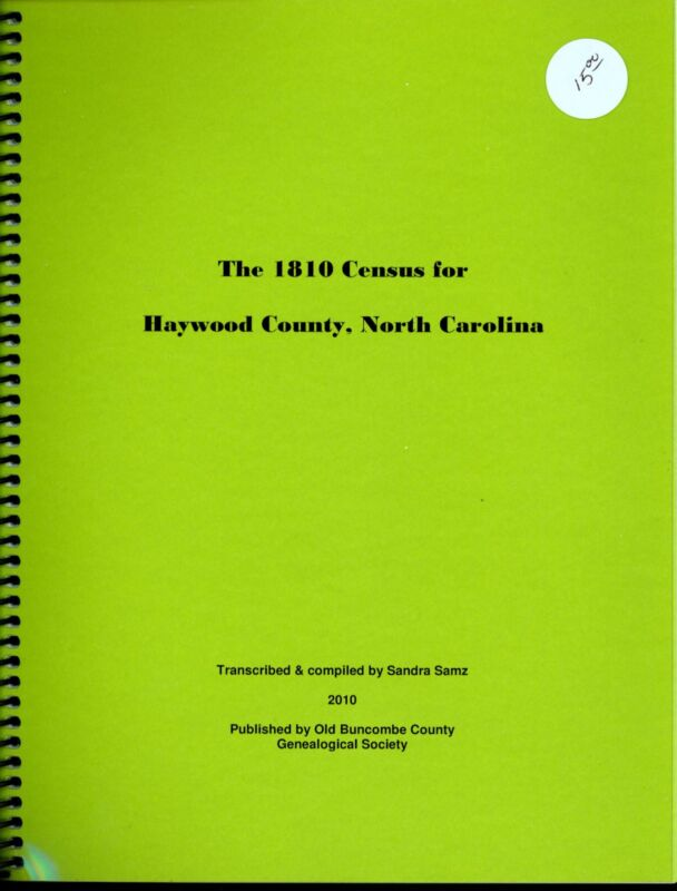 The 1810 Census for Haywood County, North Carolina
