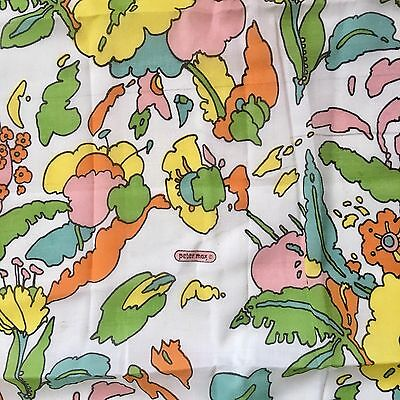 Vintage Peter Max Mod Fabric 1960s Pop Art Psychedelic Floral 2 1/2 Yards