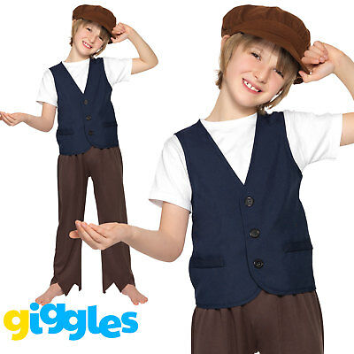 Peasant Boy Costume Oliver Twist Urchin World Book Day Week Fancy Dress Outfit - Peasant Boy Costume