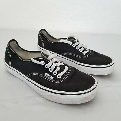 Vans Off The Wall Skateboard Shies Black Canvas Low Top Mens Size 8