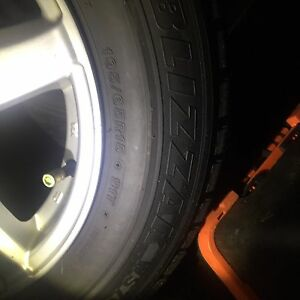 Winter tires with Alloy rims