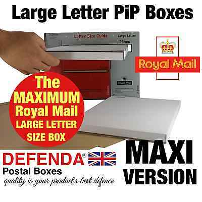 12 x MAXIMUM SIZE PRICING IN PROPORTION PIP POSTAL POSTING BOXES Mailers