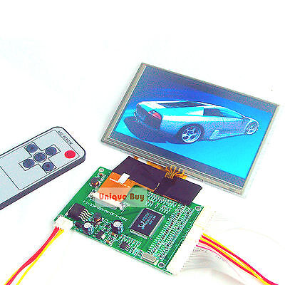 5.0 Tft Lcd Module Touch Panel 2av Vga Driving Board 800 X 480 Dots 40pin
