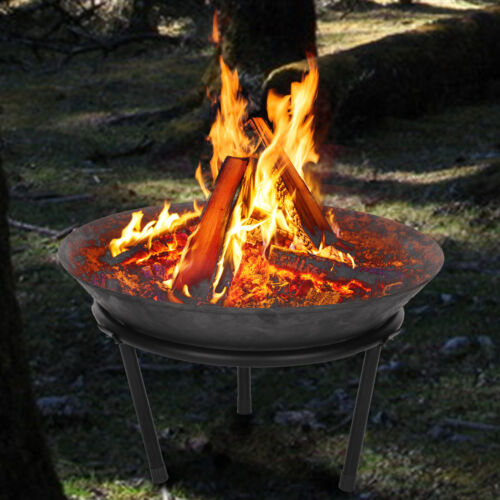Cast Iron Garden Fire Pit Basket Patio Heater Log Wood