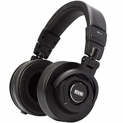 Rane RH2 50mm Over-Ear Studio Monitoring Closed-Back Noise-Isolating Headphones
