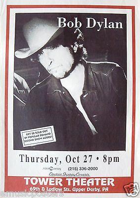 "BOB DYLAN 1994 ""NEVER ENDING TOUR"" PHILADELPHIA CONCERT POSTER -Folk Rock Legend"