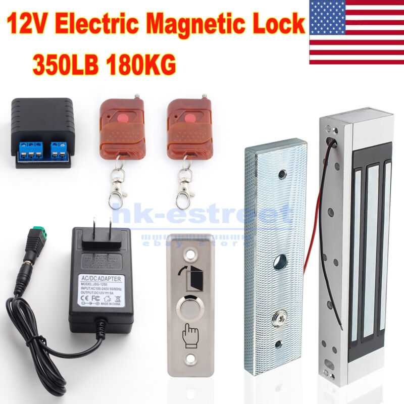 180kg 350lbs Door Access Control System Electric Magnetic Door Lock Security Kit