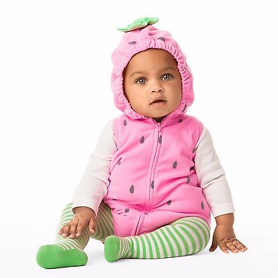 Carters 12 24 Months Strawberry Halloween Costume Set Baby Girl Pink - Strawberry Halloween Costume