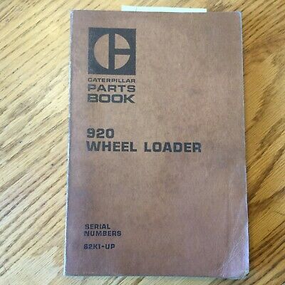 Cat Caterpillar 920 Parts Manual Book Catalog Wheel Loader List Guide 62k1 Up