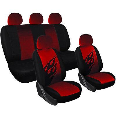 Universal Auto Sitzbezug Sitzbezüge Schonbezüge Schonbezug Set Schwarz/Rot 7223