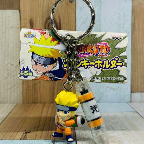 Banpresto 2003 Naruto Twin Figure Keychain Naruto & Roll Book