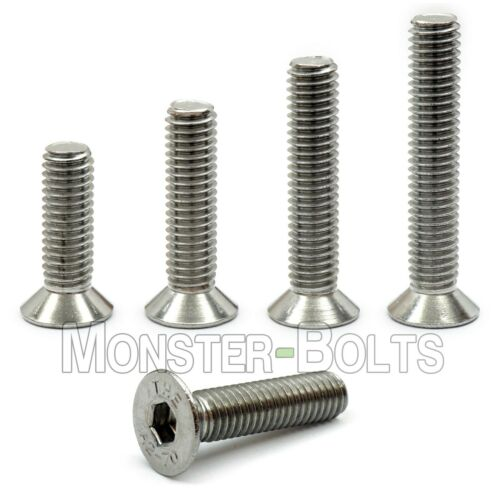 M3 Stainless Steel Flat Head Socket Cap Screws A2, Metric DIN 7991 0.50 Coarse