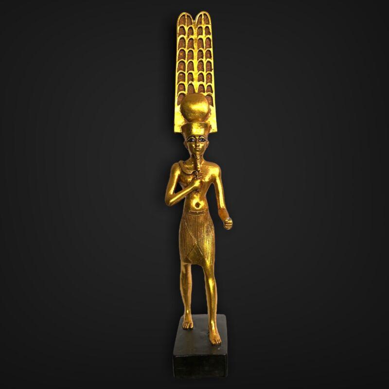 Rare Artisan Guild International AGI Egyptian God AMUN-RA Statue (Kemetic Altar)